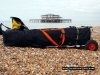 Packed Folding Kayak on Brighton Beach