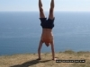 Jonathan Tolhurst Handstand up on Goldencap