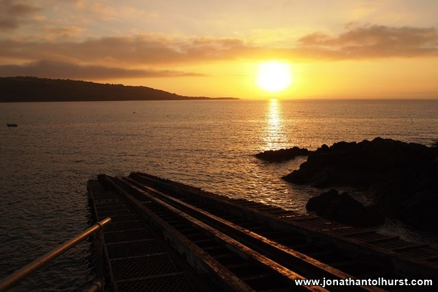 Sunset at the old lifeboat station at Coverack