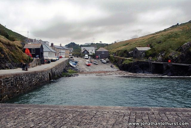 A view of Mullion from the harbour wall