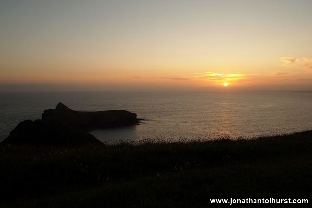 Sunset from Mullion Cliff