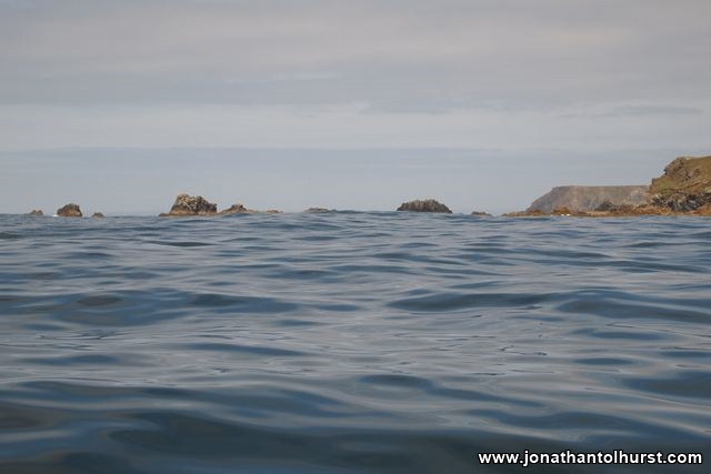 A low view of the razor sharp rocks at the Lizard
