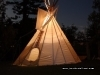 Glowing teepee