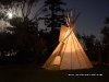 the teepee by fire and moonlight