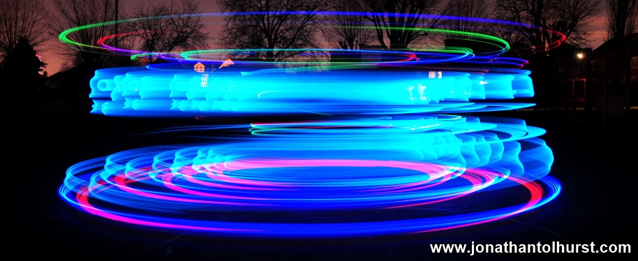 Ninebot One Electric Unicyle Tron Costume Lightpainting London Jonathan Tolhurst Photography
